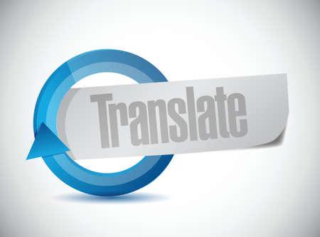 흰색 배경 위에주기 기호 그림 디자인 번역 일러스트