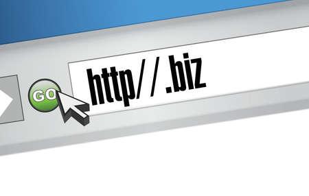 surfing the net: biz domain illustration design graphic on a website