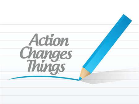 activism: acci�n cambia las cosas divisa mensaje chat comunicaci�n dise�o ilustraci�n sobre un fondo blanco Vectores