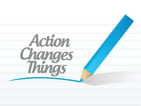 activism: action changes things message currency chat communication illustration design over a white