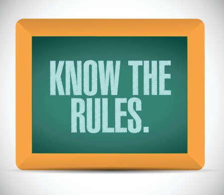 kent de regels illustratie ontwerp op een witte achtergrond