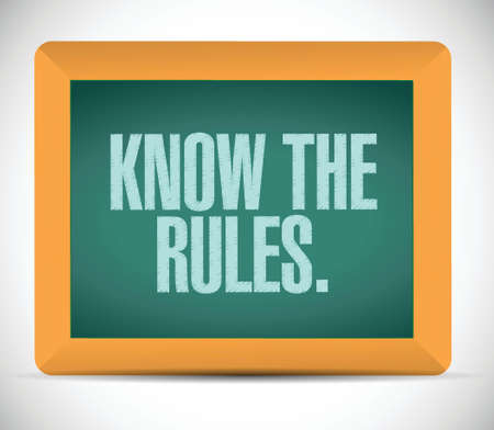 know the rules illustration design over a white background Vector