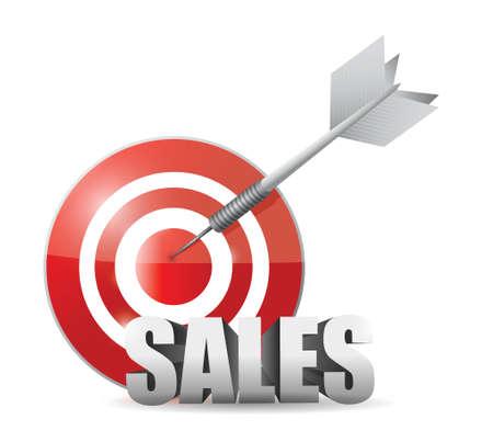 sales target illustration design over a white background Ilustrace
