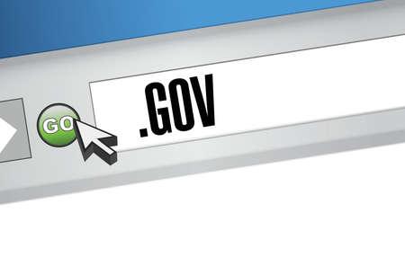 gov domain illustration design over a white background Vector