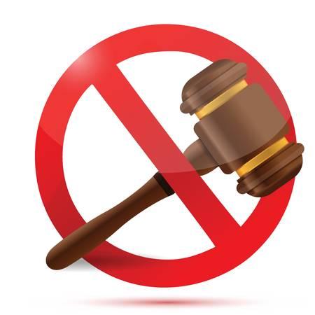 law and do not sign illustration design over a white  Illustration