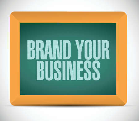 brand your business illustration design over a white background