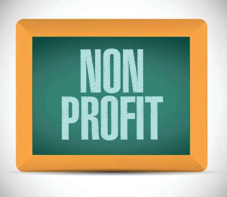 non profit sign illustration design over a white background Vettoriali