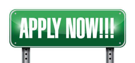 apply now: apply now sign illustration design over a white background