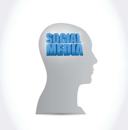 social media on my mind illustration design over a white background Vector