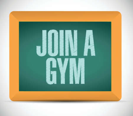 join a gym message illustration design over a white background