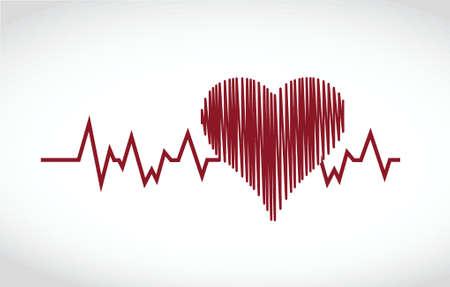 taking pulse: heart lifesaver illustration design over a white background Illustration