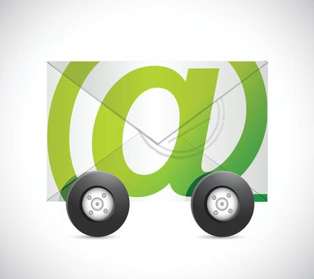 tire cover: email fast communication concept illustration design over a white background
