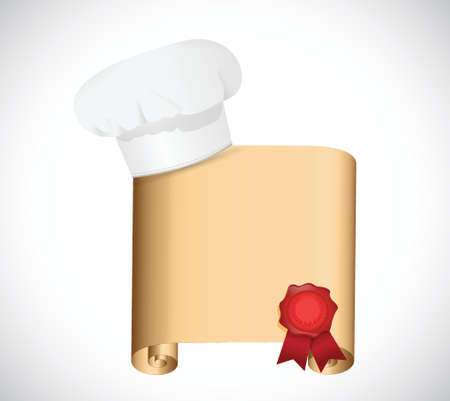 chef recipe illustration design over a white background Vector