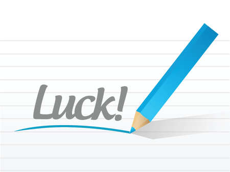 good luck: luck message illustration design over a white background