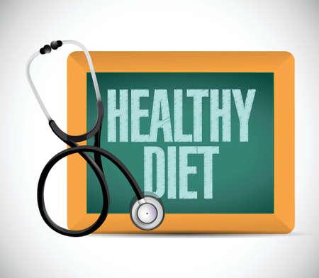 adhd: healthy diet medical illustration design over a white background Illustration
