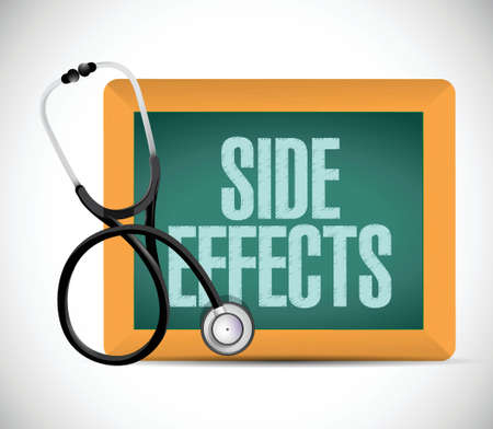 medical side effect sign illustration design over a white background