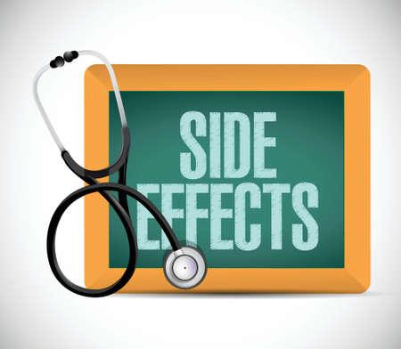 side effect: medical side effect sign illustration design over a white background