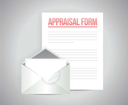 good judgment: appraisal form document illustration design over a grey background