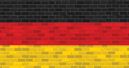germany. german flag illustration design graphic over a brick wall background