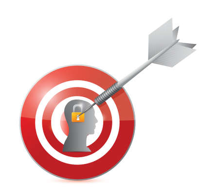 target security illustration design over a white background
