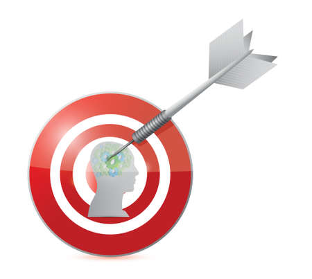 target working people illustration design over a white background Vector
