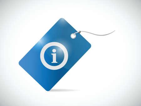 白い背景の上情報タグのイラスト デザイン