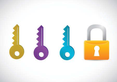 key hole: safety lock concept illustration design over a white background Illustration