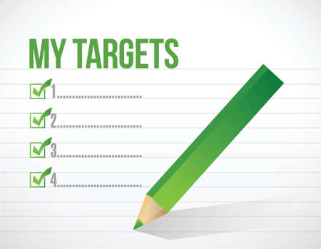 my targets check list illustration design over a white background