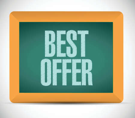 best offer message illustration design chalkboard graphic Vector