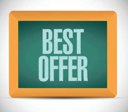 best offer message illustration design chalkboard graphic