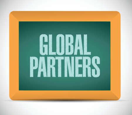 forwarding agency: global partners message illustration design blackboard graphic