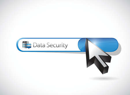 security search: data security search bar illustration design over a white background