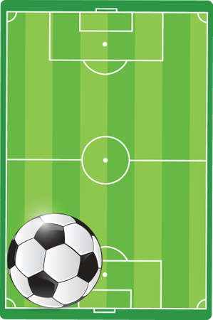 soccer goal: soccer field and ball illustration design graphic