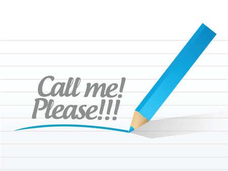 Bel me tevreden bericht illustratie ontwerp op een witte achtergrond Stockfoto - 26136398