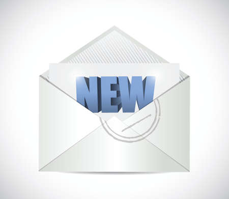 new email illustration design over a white background Illustration