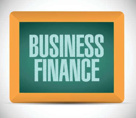 business finance written on a chalkboard. illustration design over a white background Stock Vector - 26136466