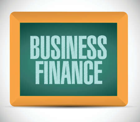business finance written on a chalkboard. illustration design over a white background Stock Vector - 26136466