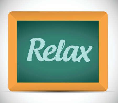 burn out: ontspannen woord geschreven op een schoolbord. illustratie ontwerp op een witte achtergrond