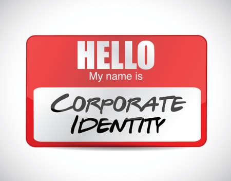 흰색 배경 위에 기업의 정체성 이름 태그 그림 디자인 일러스트