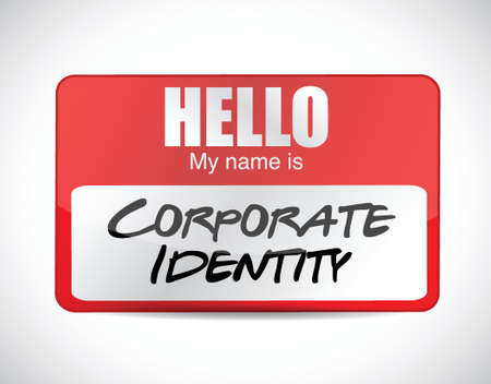 ci: corporate identity name tag illustration design over a white background