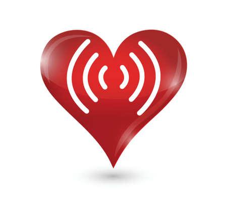 hartimpuls illustratie ontwerp op een witte achtergrond
