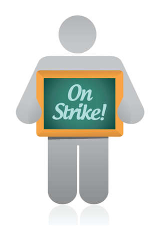 boycott: icon on strike illustration design over a white background