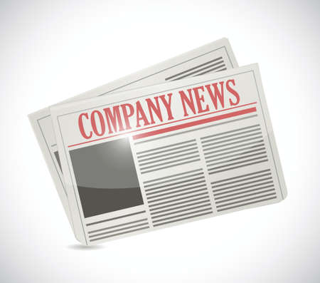 journalism: company news. newspaper illustration design over a white background