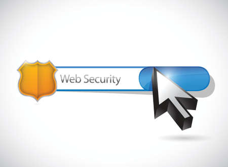 security search: web security search bar illustration design over a white background