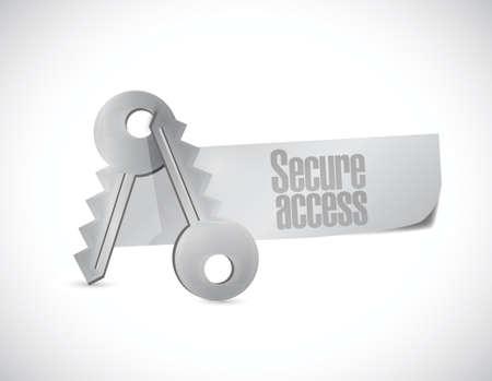 keys secure access illustration design over a white background