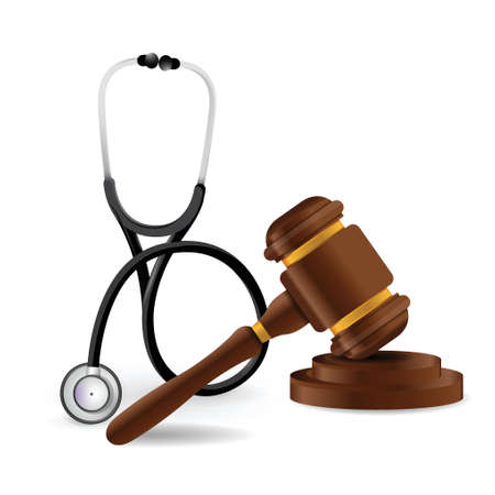 prosecution: medical law concept illustration design over a white background Illustration