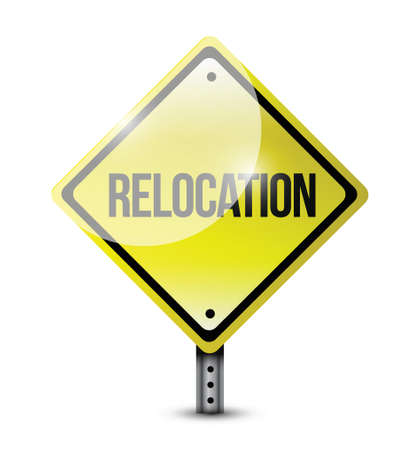 relocation: relocation sign illustration design over a white background