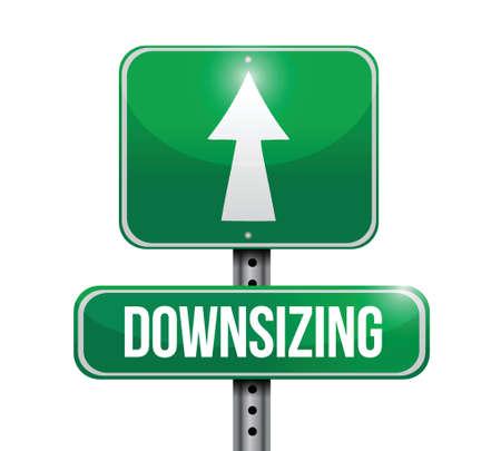 downsizing: downsizing street sign illustration design over a white background Illustration