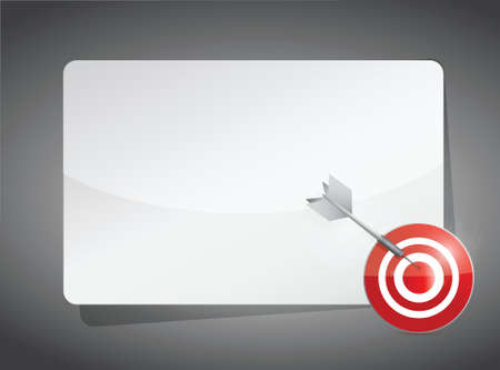 perfection: text box and target. illustration design over a grey background
