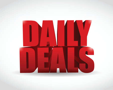 abatement: daily deals sign illustration design over a white background